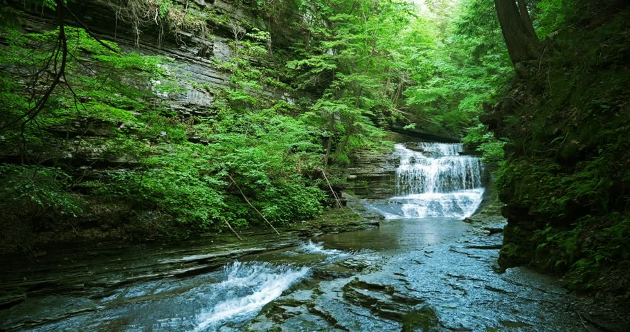 Mountain waterfall in upstate New York, 4K | Shutterstock HD Video #13286186