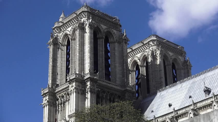 Notre Dame cathedral in Paris great shot | Shutterstock HD Video #13293287