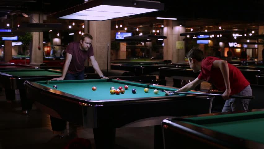Naked men billiards