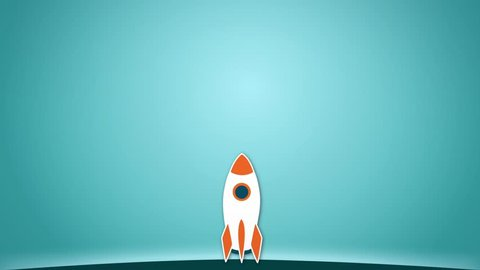 Shape animation of rocket launch from the ground