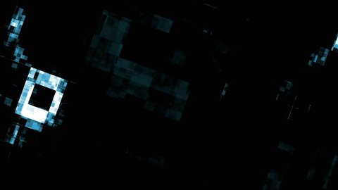 Video Background 0209: Abstract digital data forms flicker, shift and pulse (Video Loop).