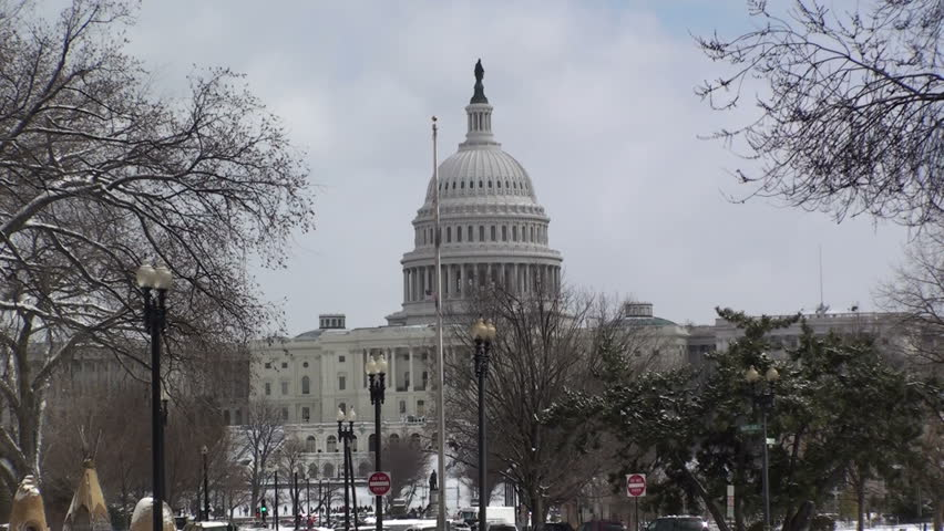 The US Capital in the Snow