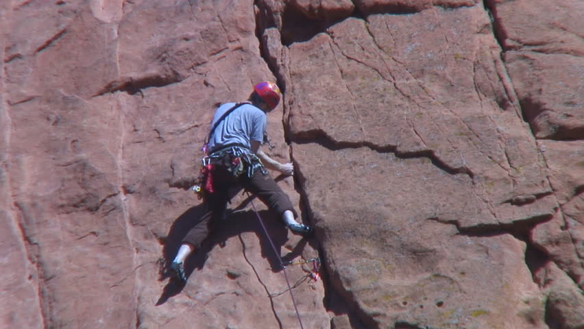 Rock climbing in Garden of the Gods, Colorado Springs