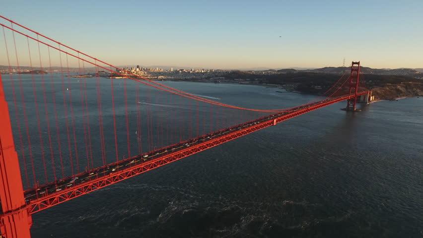 Golden State Bridge at sunset - San Francisco, CA, circa 2015 | Shutterstock HD Video #13476965