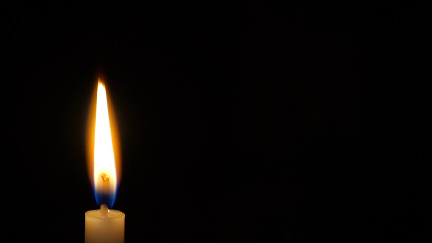 Red Candle Burning On Black Background HD Stock Footage ...