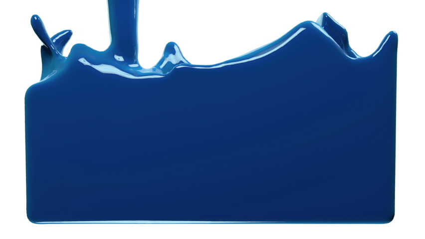 blue paint fills up screen, isolated on white FULL HD with alpha channel. 3d render #13501706