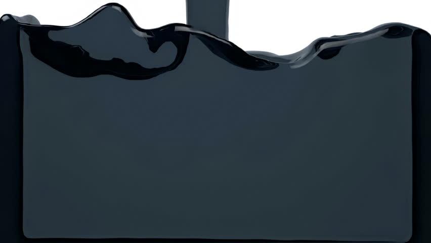 transparent blue liquid filling the screen Alpha Channel HD 3d render #13517576