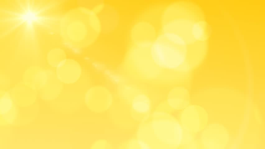 Bright Bokeh Light Flares Yellow Abstract Background