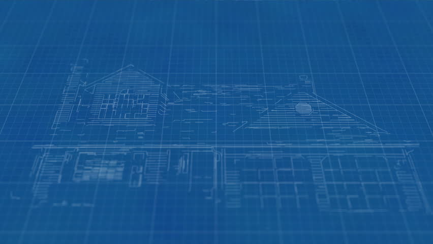 House blueprint sketch on blue graph paper animation stock footage house blueprint drawing then transforming into a real home hd stock footage clip malvernweather Choice Image