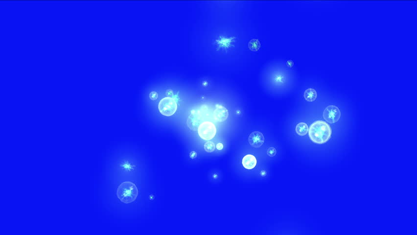 4k Abstract lightning bubbles blisters flying round circular ball dots space particles background