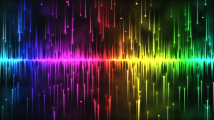 4k Audio Equalizer Music Rhythm Volume Speakers Waves