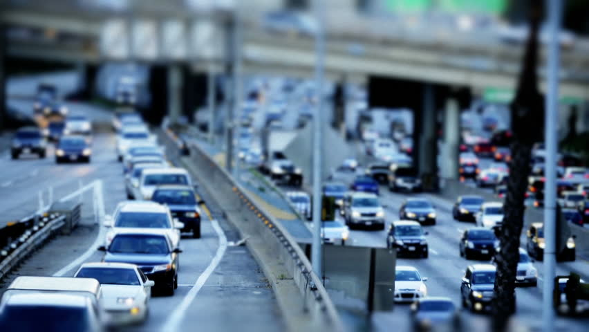 Cinemagraph:  Tilt Shift Time Lapse of Highway Traffic Downtown Los Angeles Circa March 2013 | Shutterstock HD Video #13679816