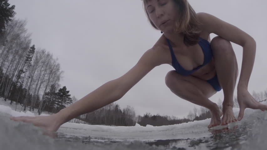swim in ice hole naked