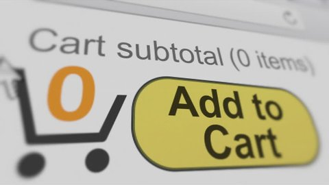 4K: Add To Cart. Shopping And Buying A Product Online