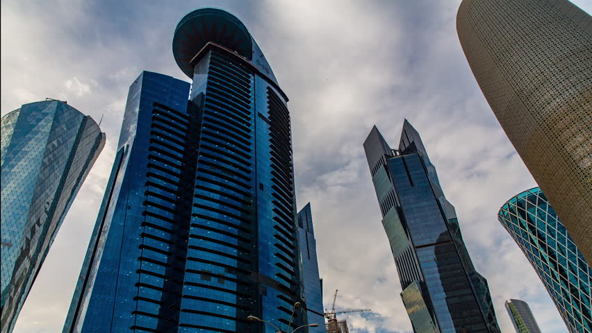 Doha skyline timelpase 3