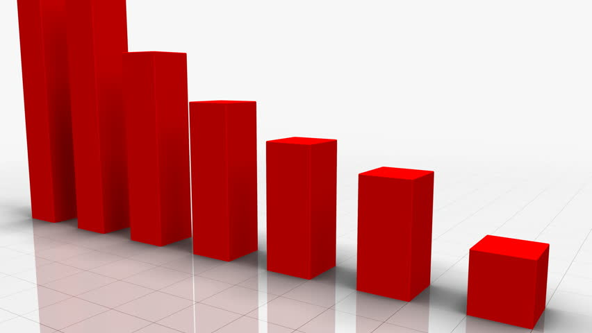 3d Growing Business Chart Bar Graph In Red With Climbing