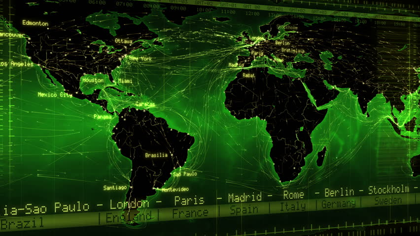 World Map With Country Names Stock Footage Video Shutterstock