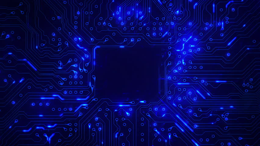 Futuristic circuit board with moving electrons. Loopable. Technology. Blue. Dolly in with copy space. More color options in my portfolio.   Shutterstock HD Video #13807046