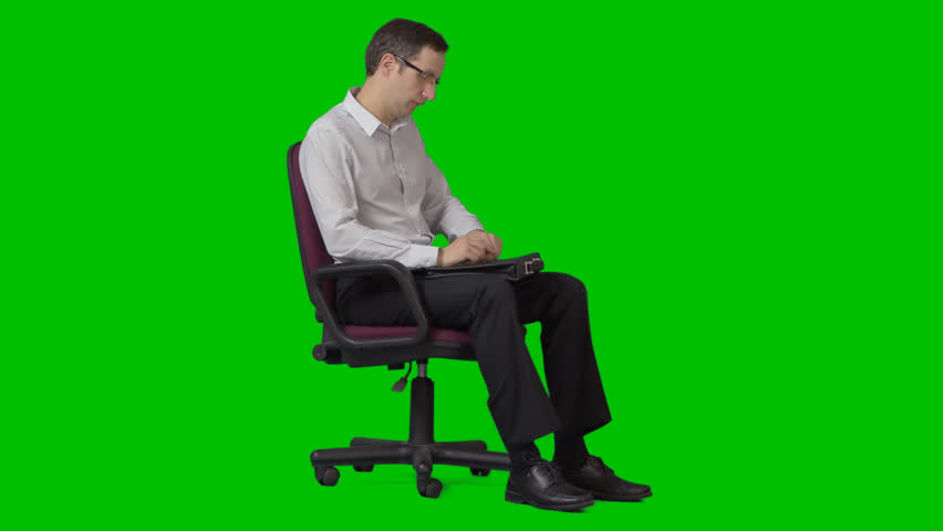 Handsome Young Businessman Sits On Stock Footage 100 Royalty Free 13812776 Shutterstock