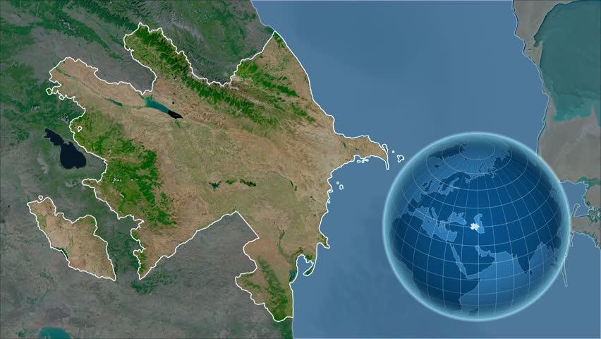 Azerbaijan Map Stock Footage Video Shutterstock - Azerbaijan map