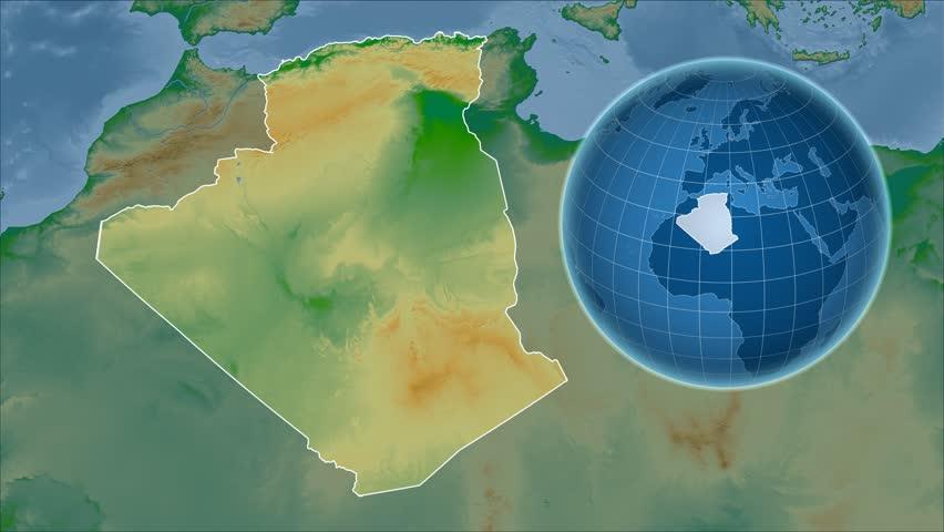 Uganda Shape Animated On The Physical Map Of The Globe Stock - Uganda map hd