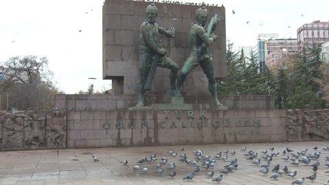A view of Ankara city center, Kizilay square