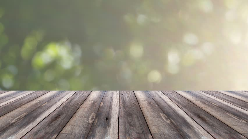 Perspective Wood And Bokeh Light Background Product Display