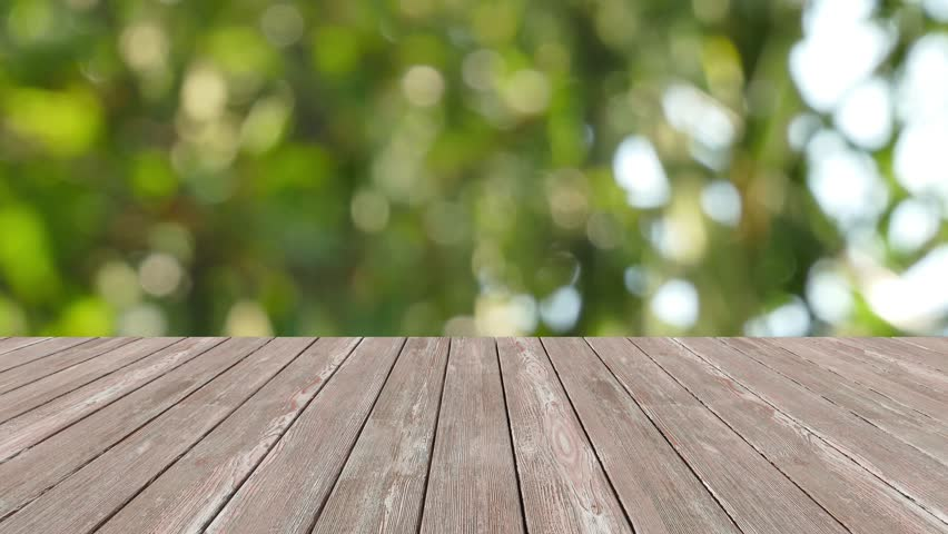 table top and blur nature of background stock footage