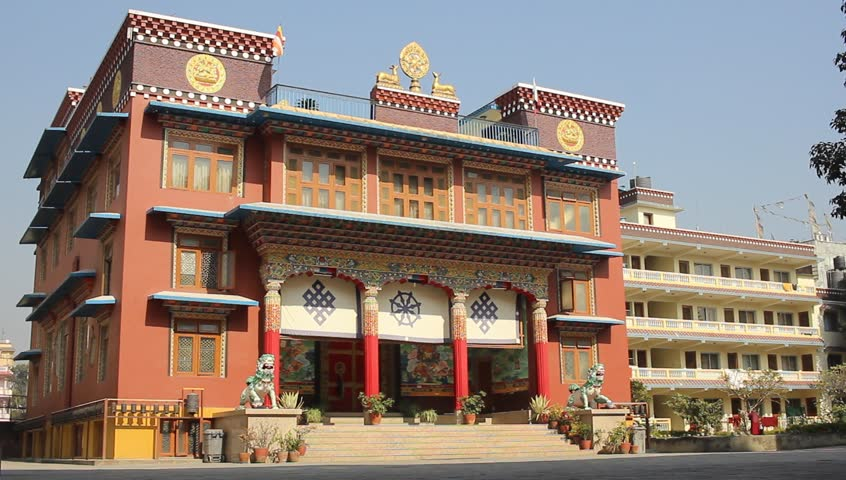 Lisbon portugal may 29 2014 the colombo shopping center in kathmandu nepal december 2015 the building of the monastery fulbari buddhist monastery sciox Gallery