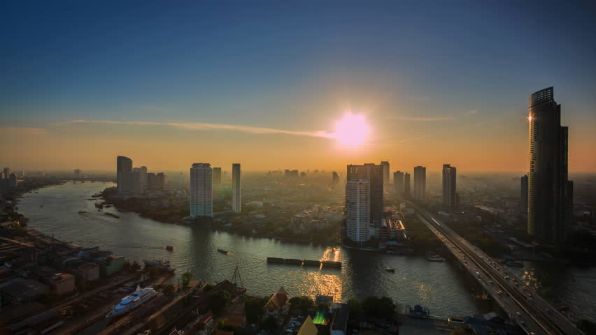 Time lapse view of Bangkok City Thailand | Shutterstock HD Video #13876016