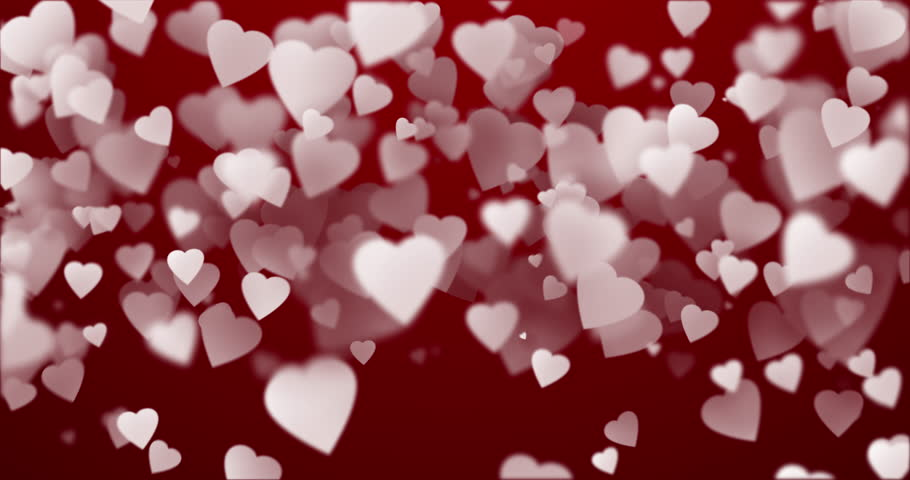 Bokeh Heart Shape Of Light Background Stock Footage Video: Elegant Color Hearts Bokeh Lights. Computer Generated