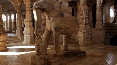 Jain temple Ranakpur. Rajasthan. India