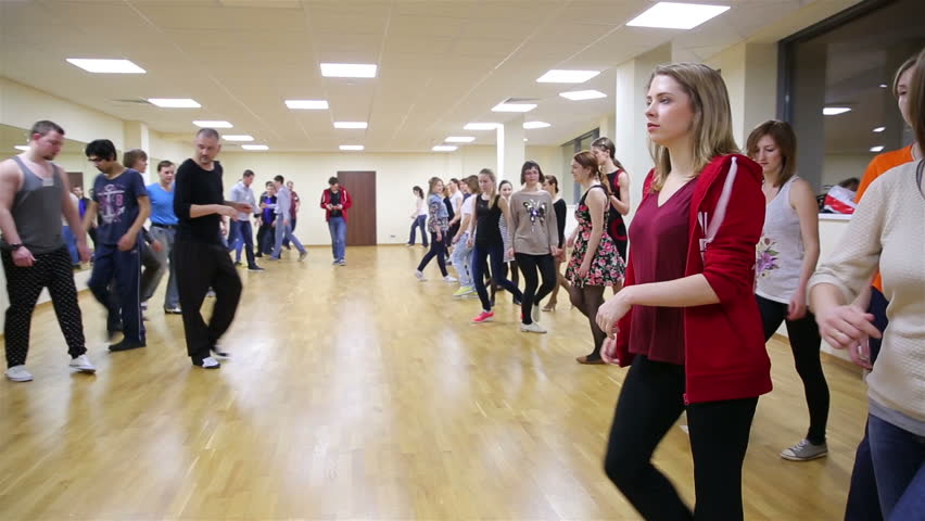 """MOSCOW, RUSSIA - NOVEMBER 14, 2016: Beginning dancers at the school dance. Dance master class at the International School of Dance """"YouDance"""".   Shutterstock HD Video #13909760"""