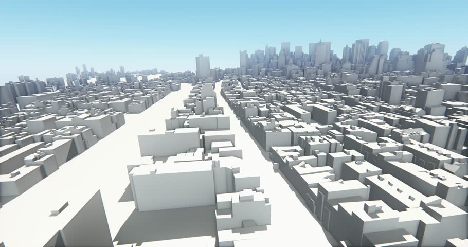 4k abstract urban business construction,flying over 3D Virtual Geometric City Office Buildings,aerial view of NewYork,web tech. cg_03244_4k