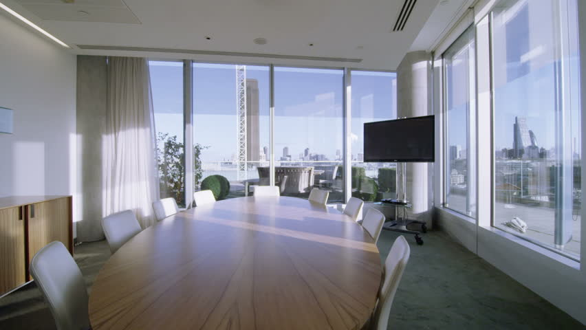 4k Ultra Hd Version Interior View Of Empty Meeting Room