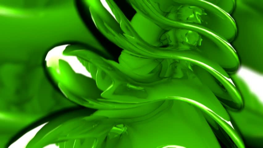 Green 3D Organic Background | Shutterstock HD Video #1395556