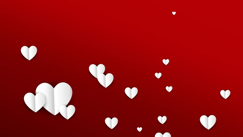 Valentines Day Heart Background Card Stock Footage Video 100