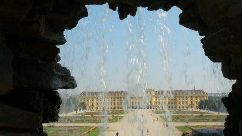 schonbrunn palace, vienna, austria, 4k