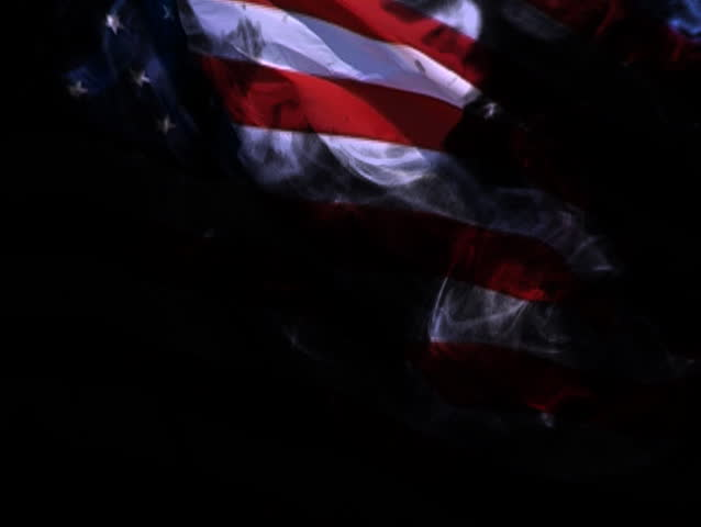 Abstract Of The United States Flag Blowing In The Wind
