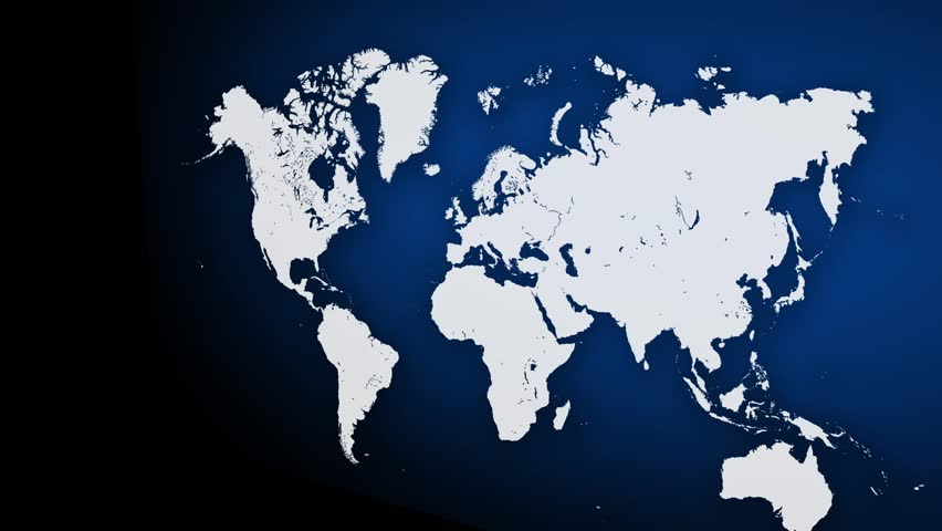 World under attack world map with major cities blinking to world map background with 3d camera 2 hd stock footage clip gumiabroncs Images