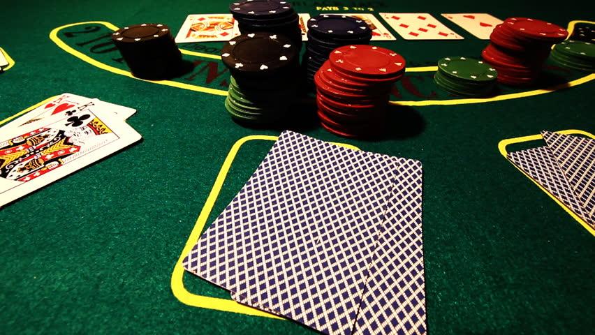 Poker running aces