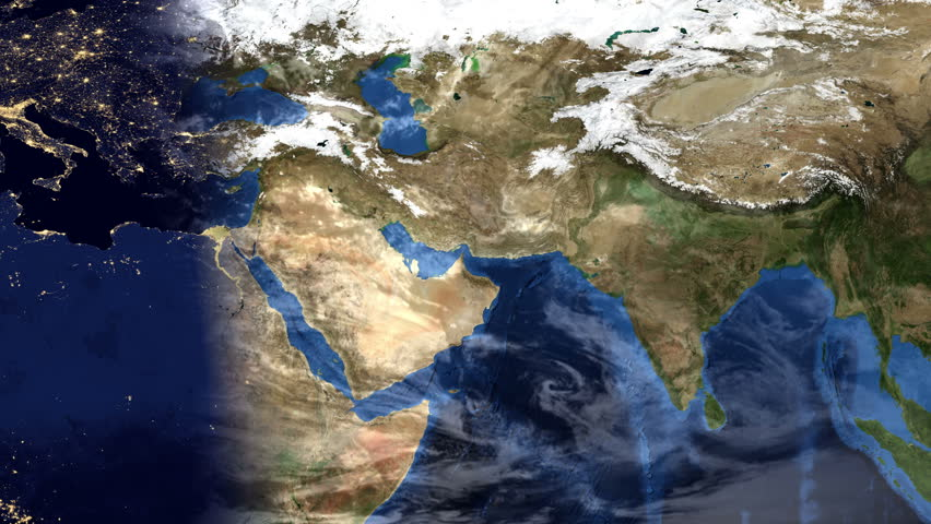 Middle east morning time lapse map of planet earth with clouds middle east morning time lapse map of planet earth with clouds zoom effect into dubai united arab emirates 4k hd stock footage video 14064986 gumiabroncs Image collections