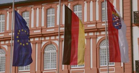 The Biebrich castle in Wiesbaden, Germany