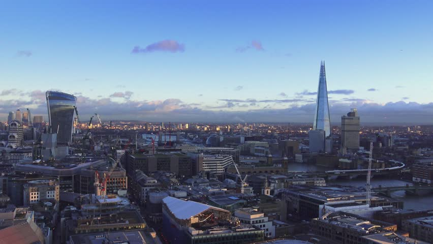 London - wide angle aerial shot 15th january 2016   Shutterstock HD Video #14130416