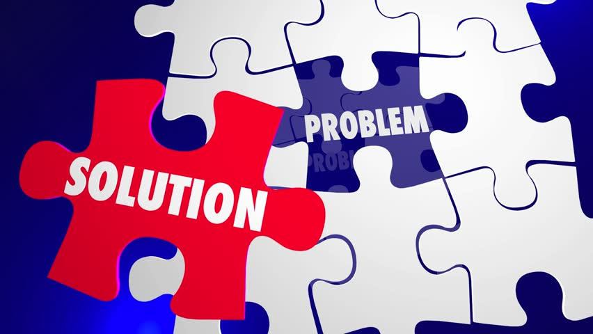 Problem Solution Puzzle Pieces Fill Hole Solve Issue | Shutterstock HD Video #14133236