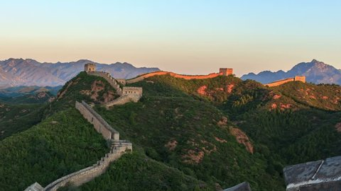 "Great Wall of China at Sunrise.  ( Zooming out Time-Lapse Video).  - >>> Please search similar: "" ChinaGreatWall "" ."