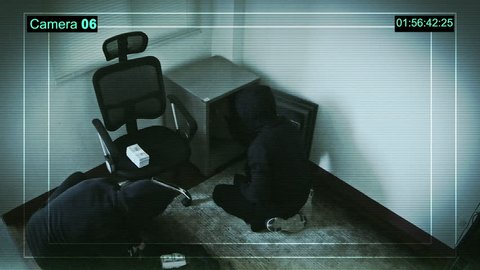 Real surveillance cameras captured and recorded the two robbers enter the house.