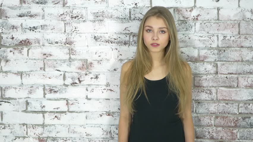 Stylish Teenage Girl Leaning Against Stock Footage Video 100 Royalty Free 14263196 Shutterstock