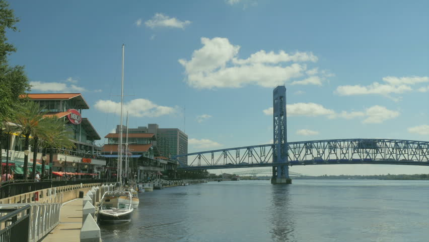 JACKSONVILLE FLORIDA October The Landing Dining Venue In - Longest river in the us