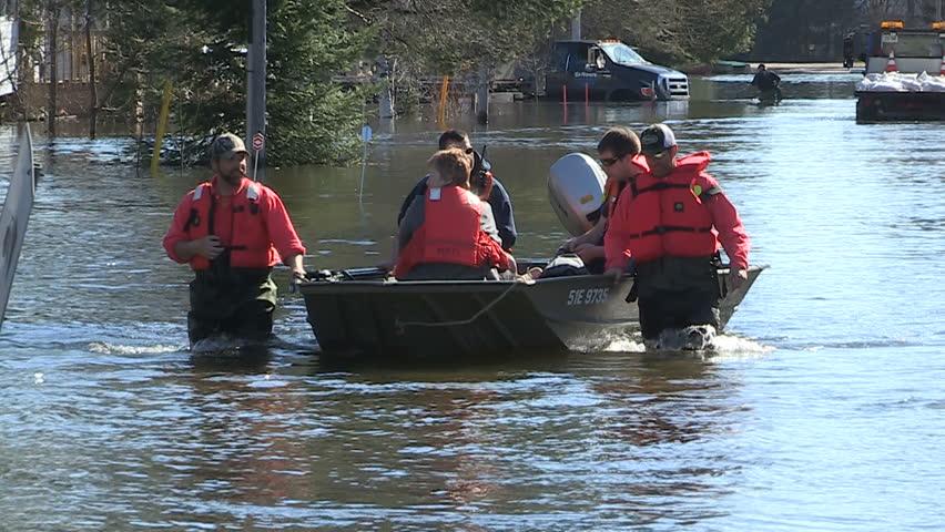 Minden, Ontario, Canada May 2013 Major spring flooding in small Ontario town